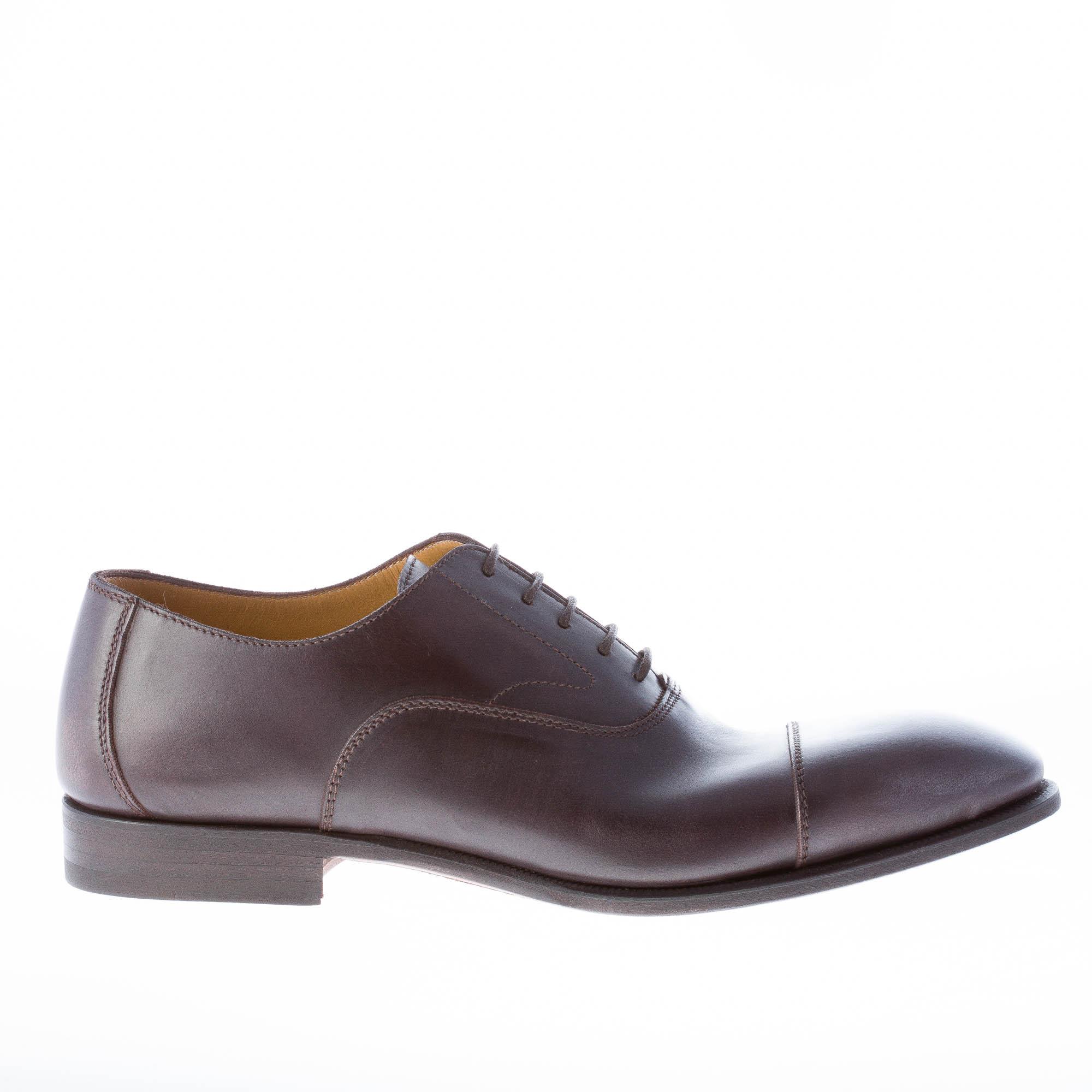 MIGLIORE scarpe uomo men shoes francesina in pelle testa di moro con puntale