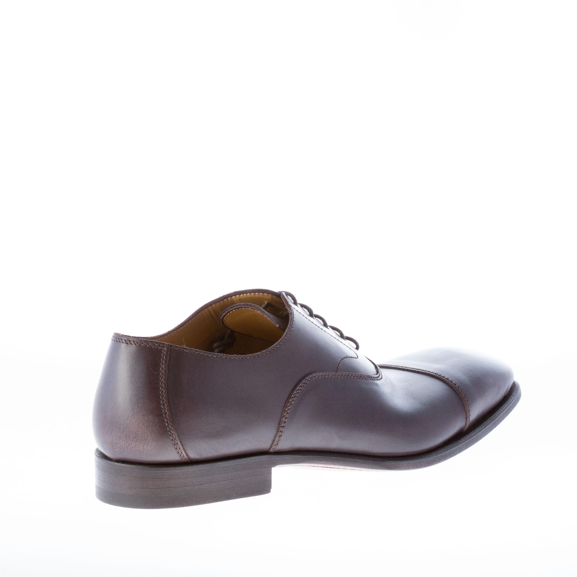 Dettagli su MIGLIORE scarpe uomo men shoes francesina in pelle testa di moro con puntale