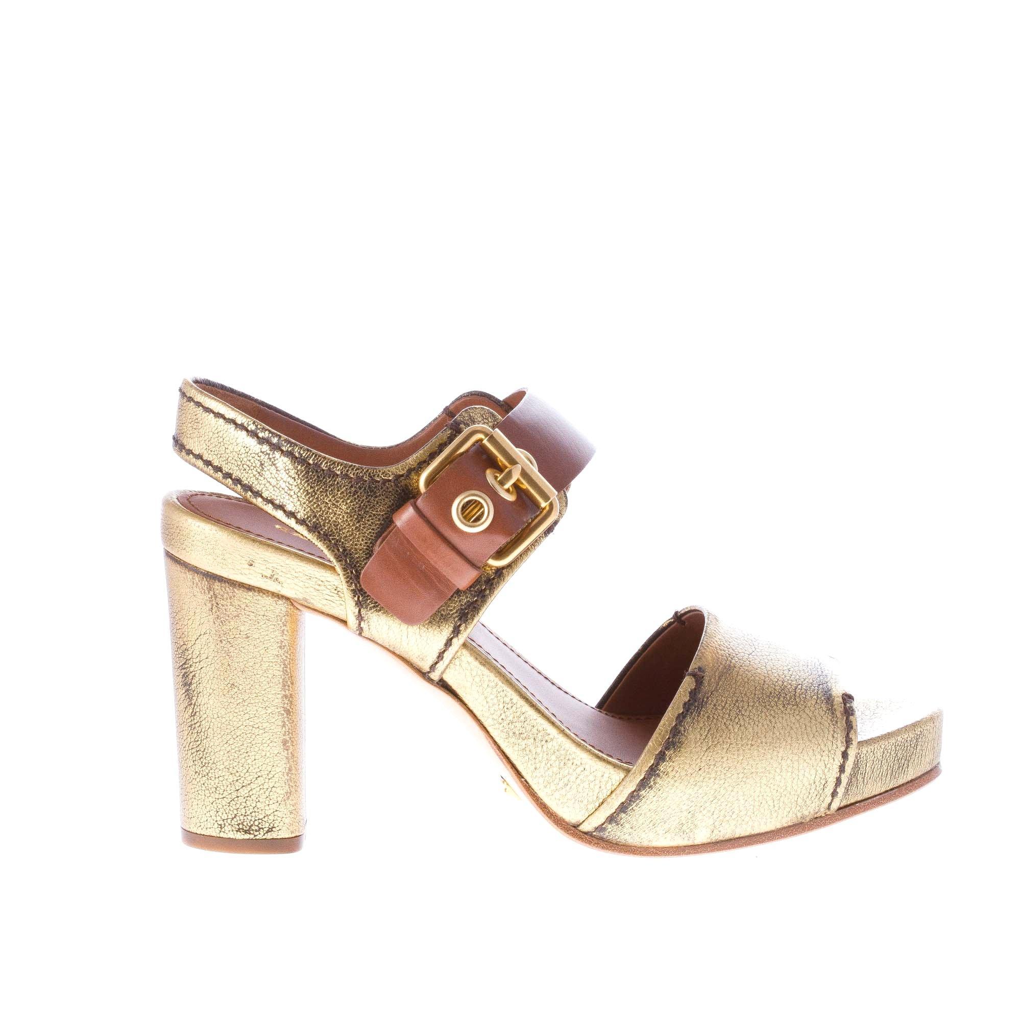 CAR SHOE Antiqued damen schuhe Damens schuhe Antiqued SHOE gold Leder Sandale with ankle strap ba4ac6