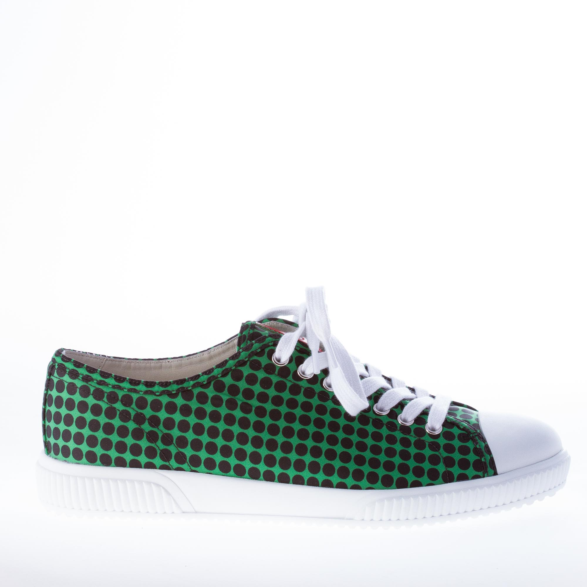 PRADA scarpe uomo men shoes sneaker in con nylon VERDE E NERO con in punta in gomma 9037a4