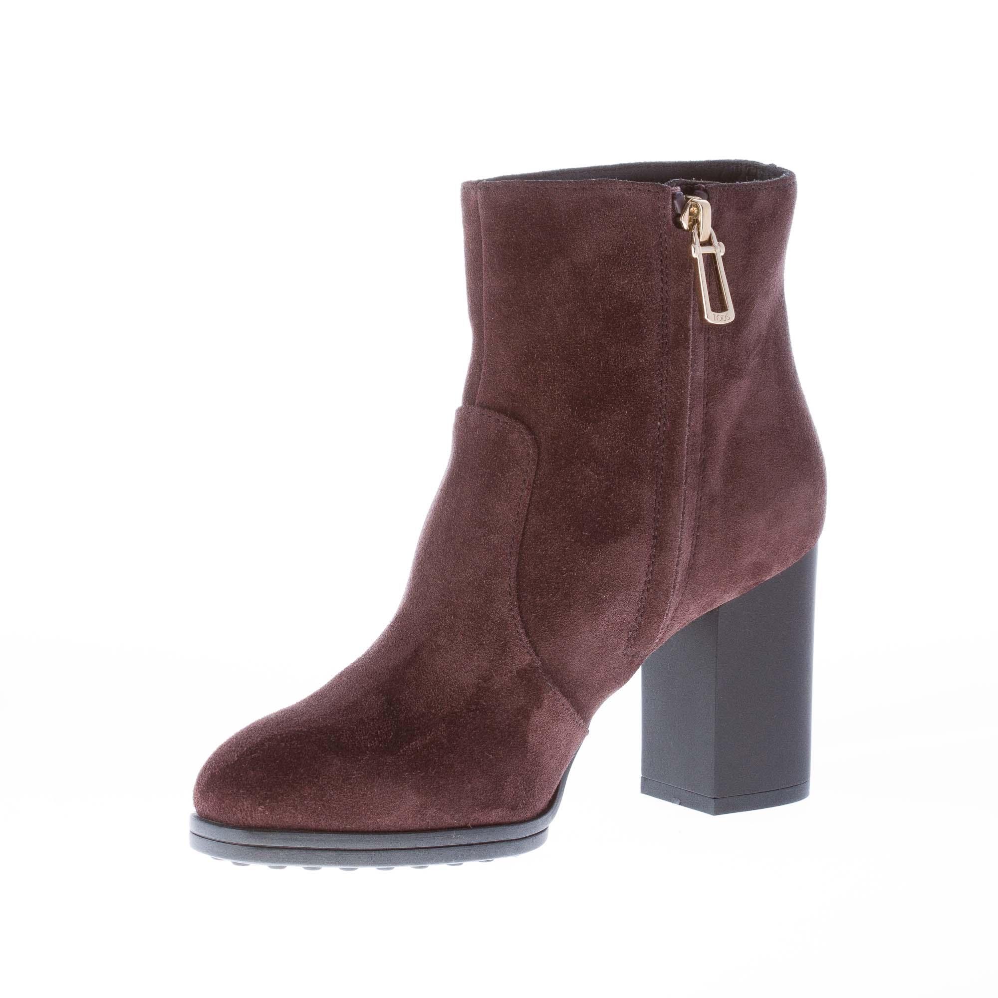 TOD'S Boots Dark brown Women