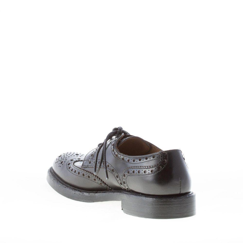 GREEN GEORGE uomo scarpa derby in pelle spazzolata NERO con coda di ... 33114b343e2