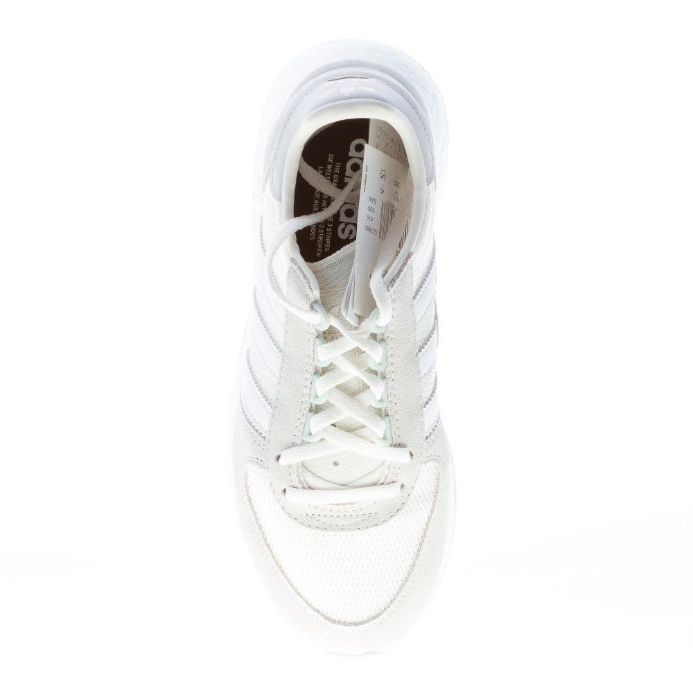 ADIDAS sneaker uomo MARATHONx5923 in tessuto tecnico BIANCO più camoscio
